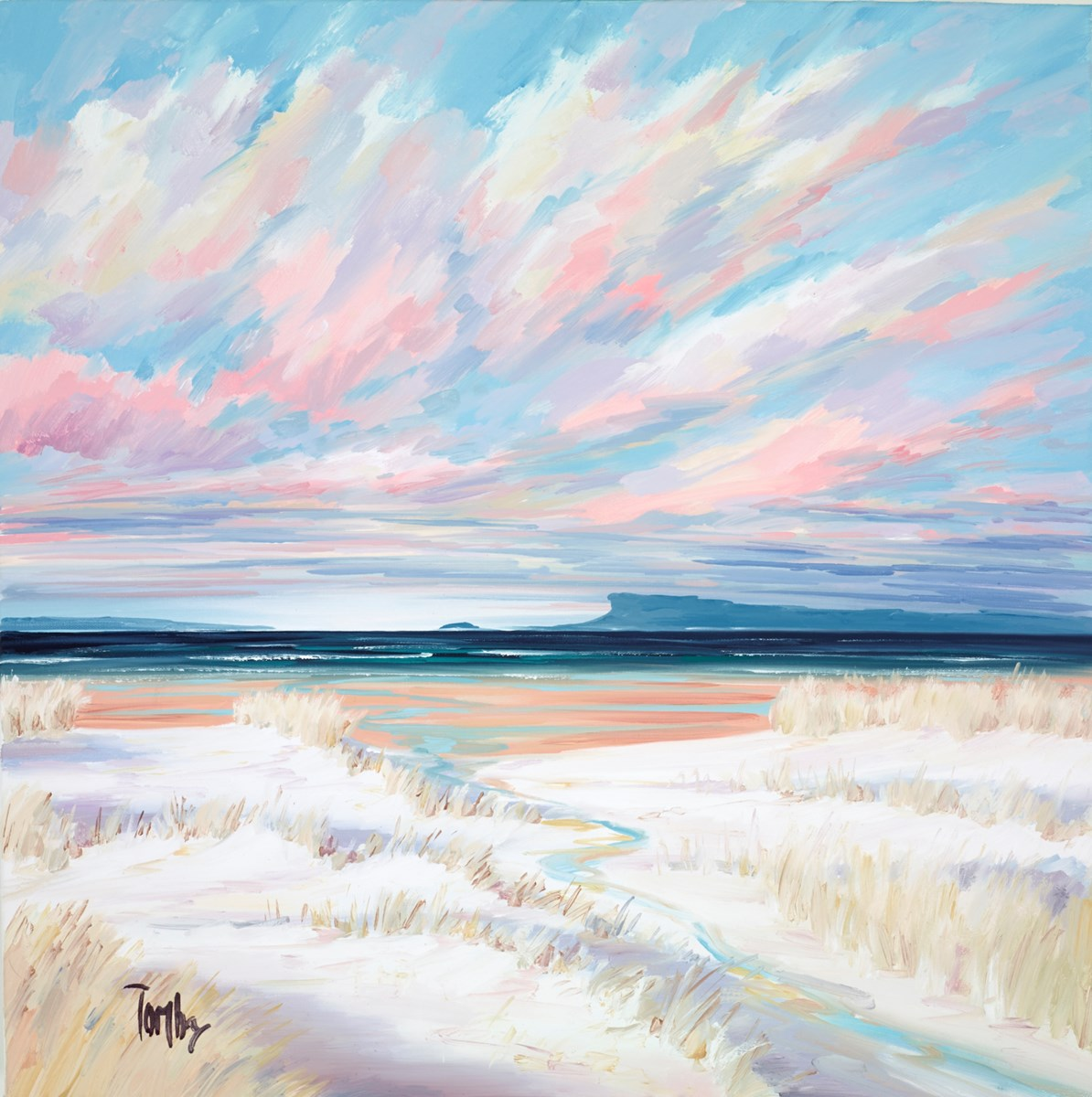 Arisaig Sands VI by tom barron -  sized 23x24 inches. Available from Whitewall Galleries